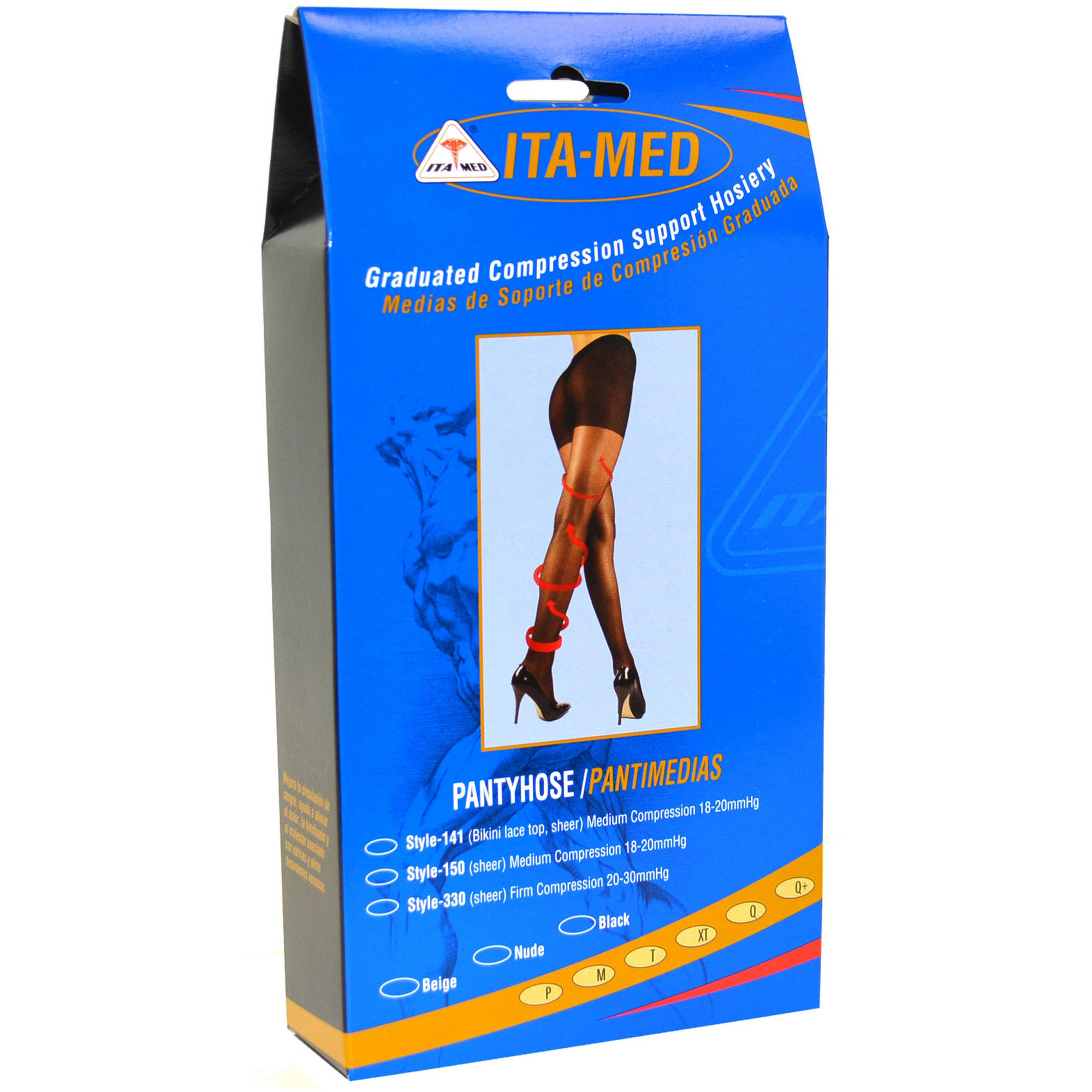 ITA-MED Sheer Pantyhose - Compression (20-22 mmHg): H-150