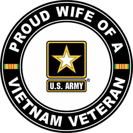 3.8 Inch U.S. Army Proud Wife of a Vietnam
