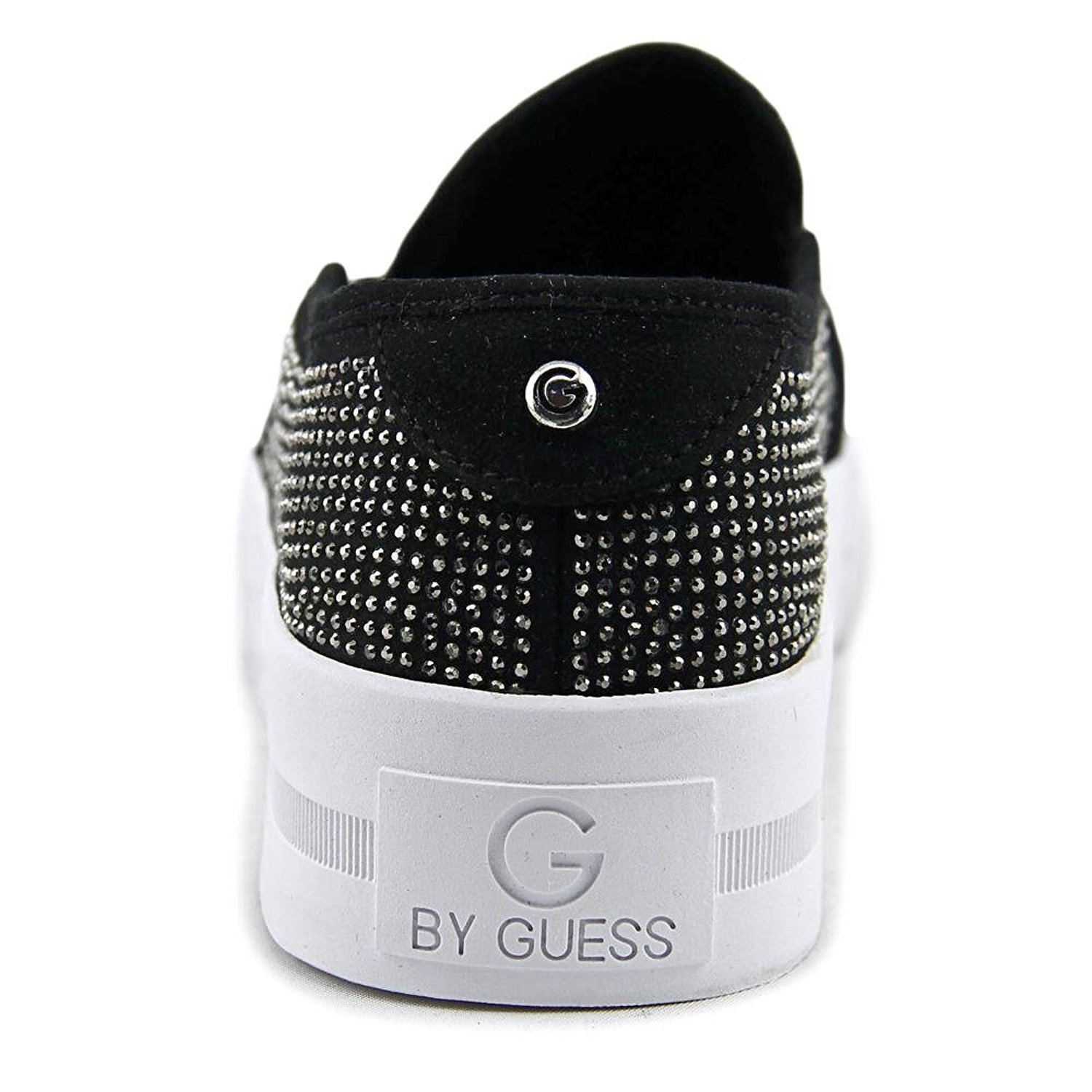 83a9eb91d49f2 G by Guess Womens Cherita Fabric Low Top Slip On Fashion, Black, Size 8.0