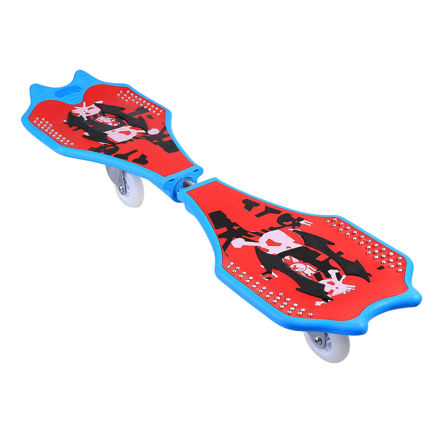 Child Kids Caster Board With Light Up Wheels and Carrying Bag HITC by