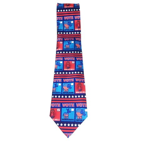 Funny Election Necktie - Mad As Hell - Vote 2016 - Funny Political Ties - Funny Costume