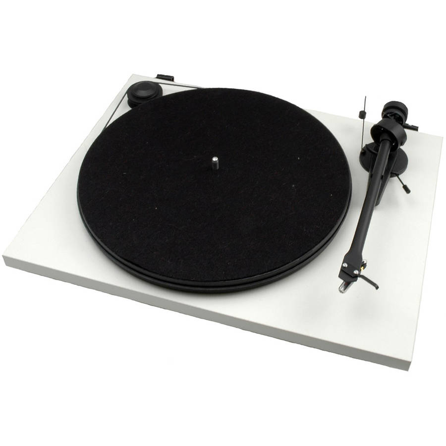 MONOPRICE Pro-Ject Essential II White USB Turntable with Ortofon OM 5E Cartridge by Generic