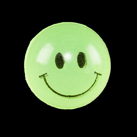 Glow in the Dark Smile Super Balls - 12 per pack (Glow In The Dark Ball)