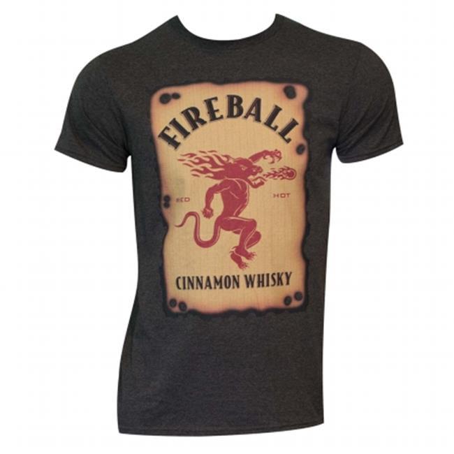 Fireball Whiskey 34928XXL Mens Fireball Label T-Shirt, Bl...