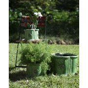 Abigails Amalfi Petal Planter Set In Green