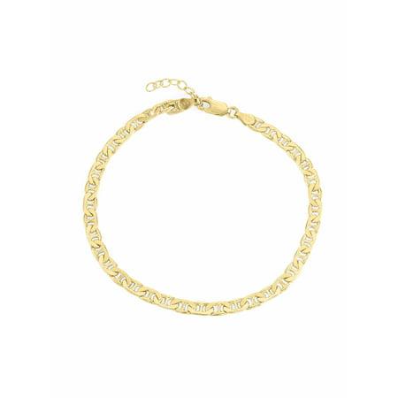 18kt Gold over Sterling Silver Mariner Anklet, 9