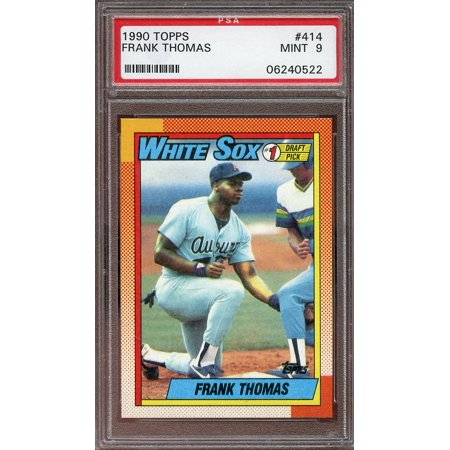 1990 topps #414 FRANK THOMAS chicago white sox rookie card PSA 9