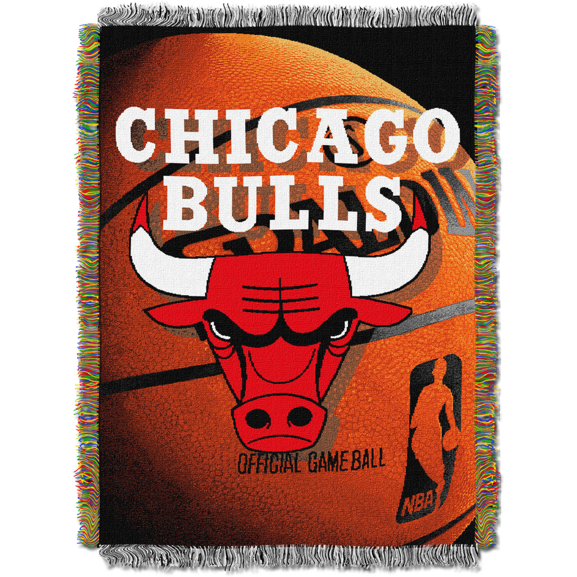 "NBA 48"" x 60"" Photo Real Series Tapestry Throw, Bulls"
