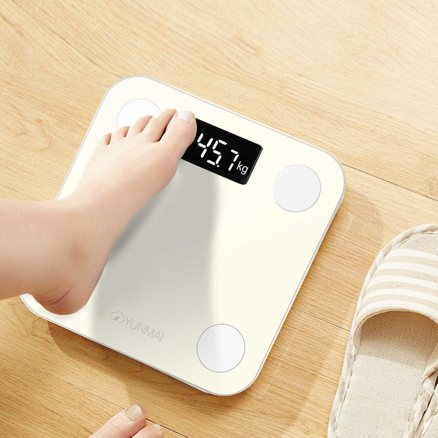 Mini Lite Bluetooth Smart Scale Body Fat Scale LED Digital SPPYY