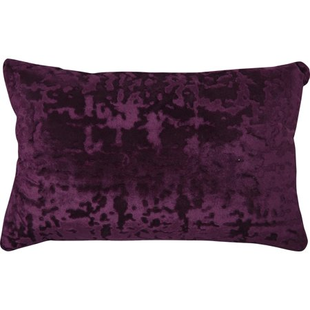 Mainstays Velvet Oblong Decorative Throw Pillow, Purple ()