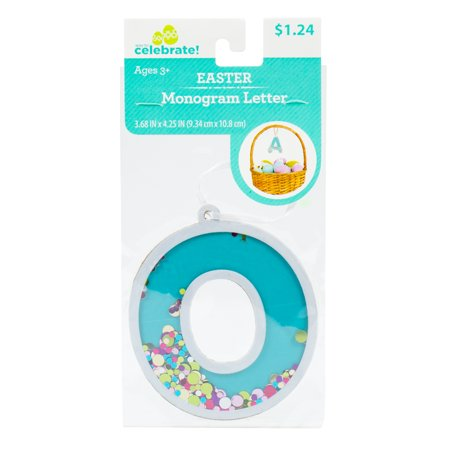 Way To Celebrate! Easter Fun-Fetti Monogram - Letter O Personalize your Easter baskets this holiday season with these Fun-Fetti Monogram Letter Tags! These tags come ready to hang and filled with colorful confetti in any letter of your choosing. You can spell out a full name or just choose the initials of your friends and family, the possibilities are endless!