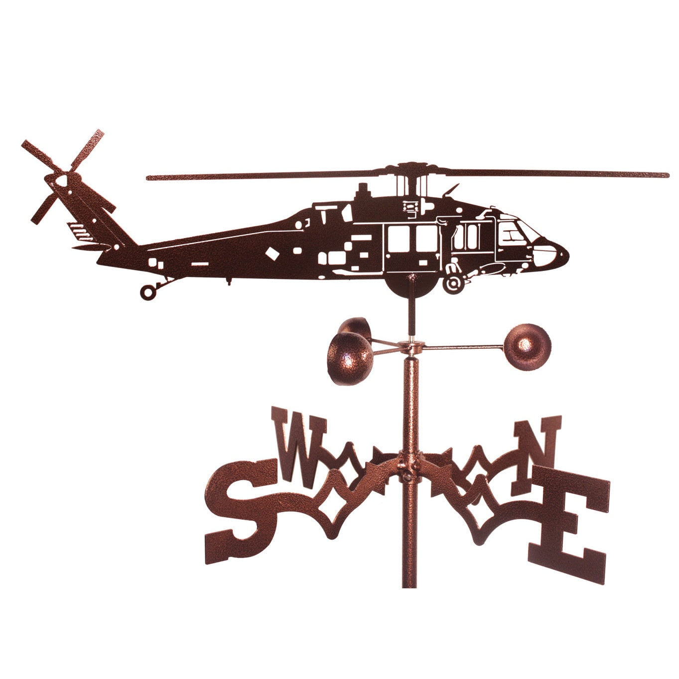 SWEN Products Black Hawk Helicopter Weathervane