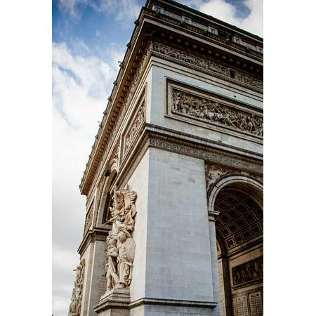 LAMINATED POSTER Arch Of Triumph Corner France Architecture Paris Poster Print 24 x -