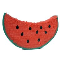 Watermelon Pinata, Red & Green, 20in x 12in