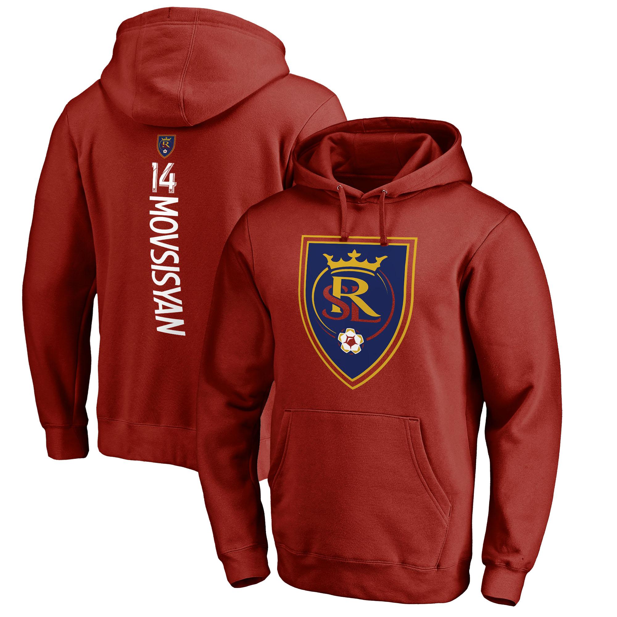 Yura Movsisyan Real Salt Lake Fanatics Branded Backer Name & Number Pullover Hoodie - Red