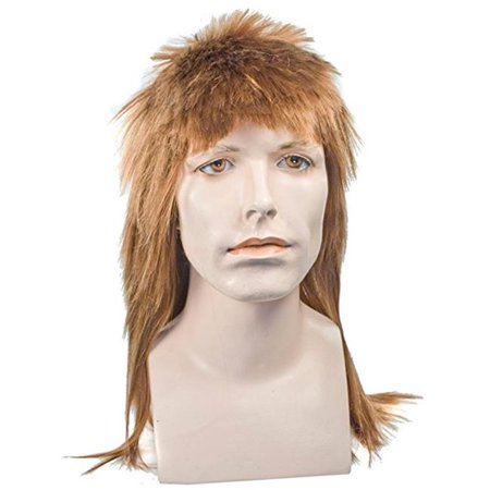 Mullet Long Brown Wig Costume - image 1 de 1