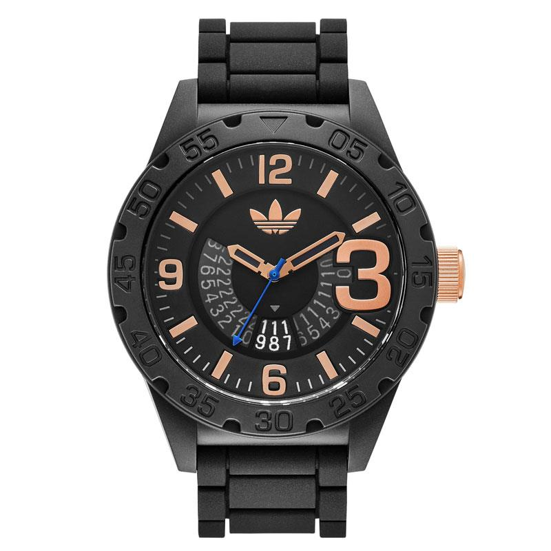 Adidas Men's 42mm Black Silicone Band Resin Case Quartz Analog Watch adh3082 by Adidas