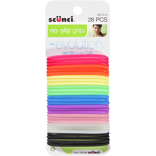 Scunci No Slip Grip Hair Ties, The Evolution, 28 count