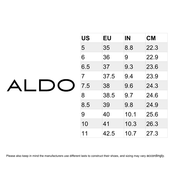 aldo shoes 40 american size chart
