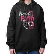Breast Cancer Awareness Shirt | Faith Hope Love Support Pink Hoodie Sweatshirt