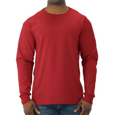Jerzees Ringer Tee - Big Men's Dri-Power Long Sleeve Crewneck T Shirt