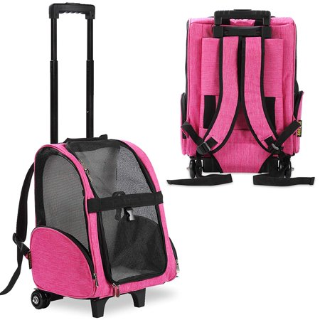 KOPEKS Deluxe Pet Dog Carrier Travel Backpack with Wheels Approved by Most Airlines