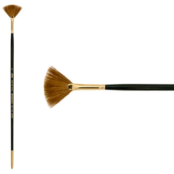 Silver Brush Renaissance Series Brushes Long Handle 2 Fan 7104