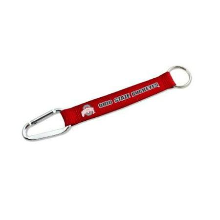 NCAA Ohio State Buckeyes Carabiner Lanyard Key Chain Red Buckeyes Keychain
