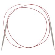 "Red Lace Stainless Steel Circular Knitting Needles 60""-Size 4/3.5mm"