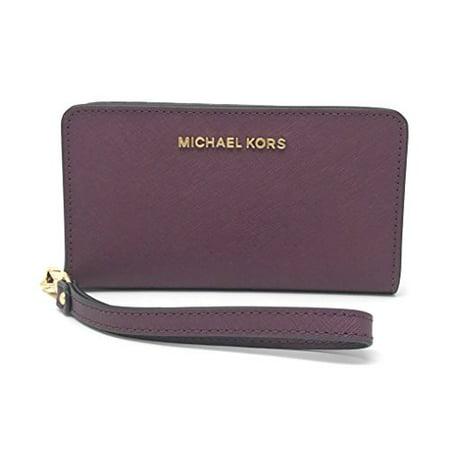 8bce662def374 Michael Kors - Michael Kors Jet Set Travel Slim Tech Leather Wristlet