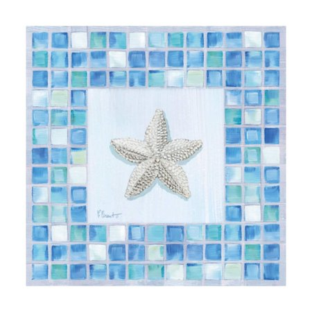 Mosaic Starfish Print Wall Art By Paul Brent