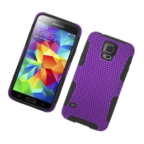 Insten Astronoot Hard Dual Layer TPU Case For Samsung Galaxy S5 - Purple/Black