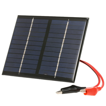 1.5W/12V Solar With Alligator Clip Compact Polycrystalline Solar Panel For Garden/Traffic/Emergency Light Solar Pump Outdoor Advertisement Toys
