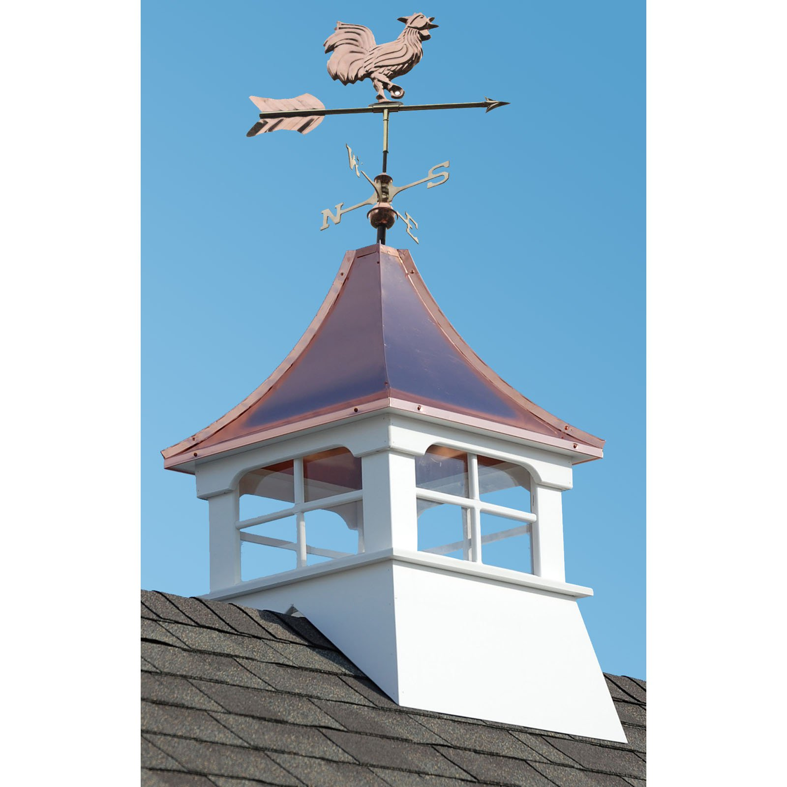 Image of Accentua Charleston Cupola with Rooster Weathervane