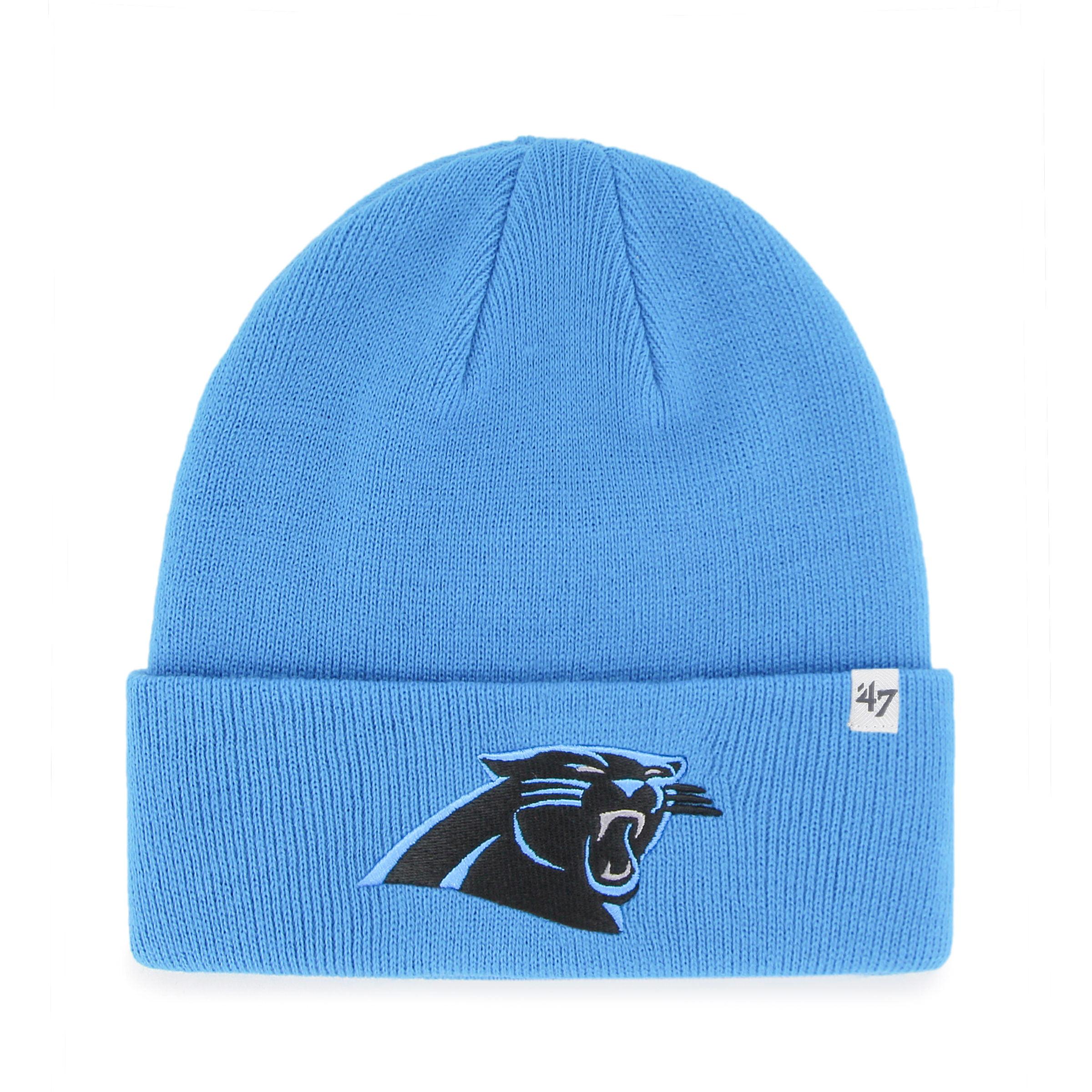 Carolina Panthers NFL Raised Cuffed Knit Beanie 936978d5ace