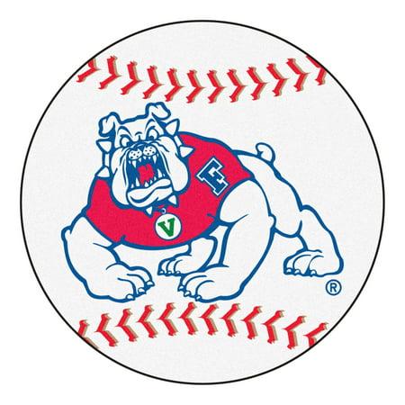 """Fresno State Baseball Mat 27"""" diameter"""