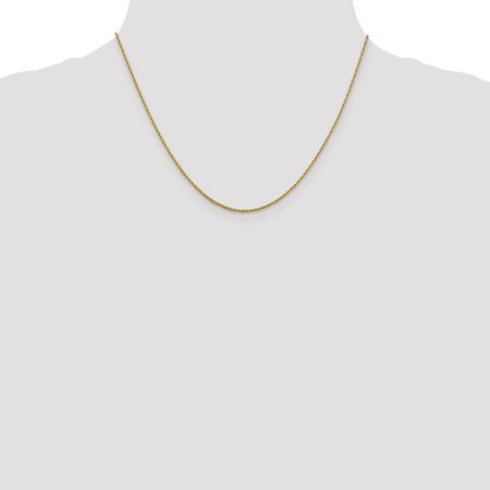 14k Yellow Gold 1.3 Mm Pendant Link Rope Chain Necklace 18 Inch Charm Fine Jewelry For Women Gifts For Her - image 6 of 9