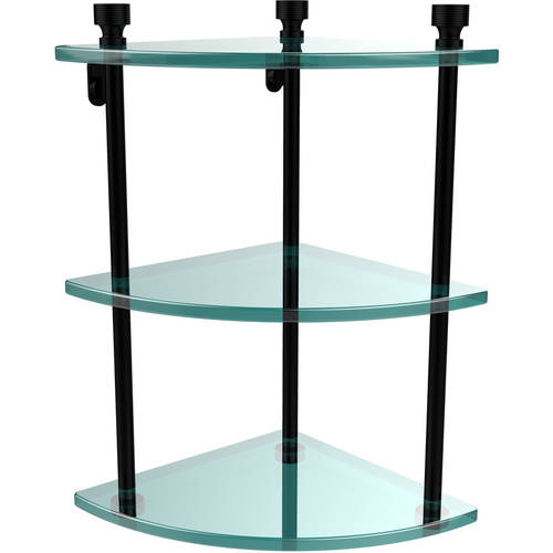 Foxtrot Collection 3-Tier Corner Glass Shelf (Build to Order)
