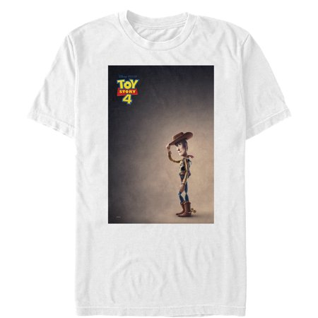 Toy Story Men's 4 Woody Movie Poster T-Shirt - Mens Toy Story Woody Shirt