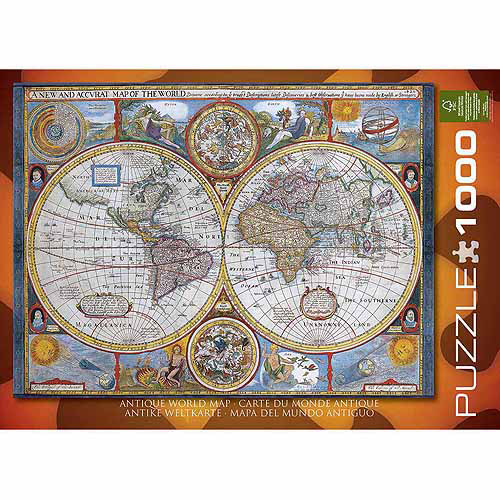 EuroGraphics New and Accurate Map of the World 1000-Piece Puzzle