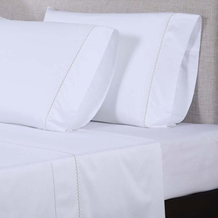 600 Thread Count Embroidered Sheet Set by Affluence