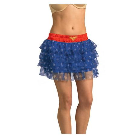 Wonder Woman Sequin Skirt Dress Womens Uniform Logo Costume  DC Comics](Womens Uniform Costumes)