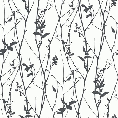 Eco Wallpaper Paloma Black Spring Tree Wallpaper (Halloween Black Cat Wallpaper)