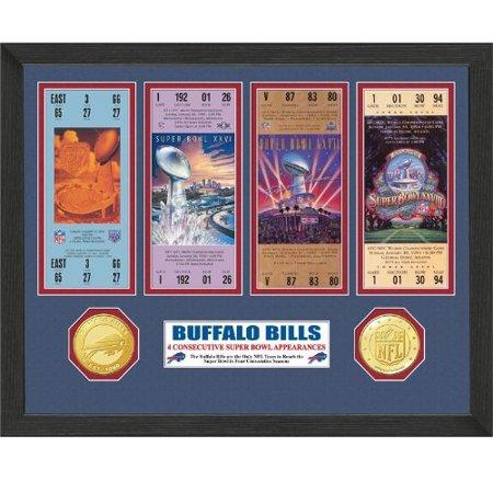Nfl framed wall art by the highland mint buffalo bills super bowl championship ticket - Buffalo bills ticket office ...
