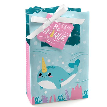Narwhal Girl - Under The Sea Baby Shower or Birthday Party Favor Boxes - Set of - Sea Babies