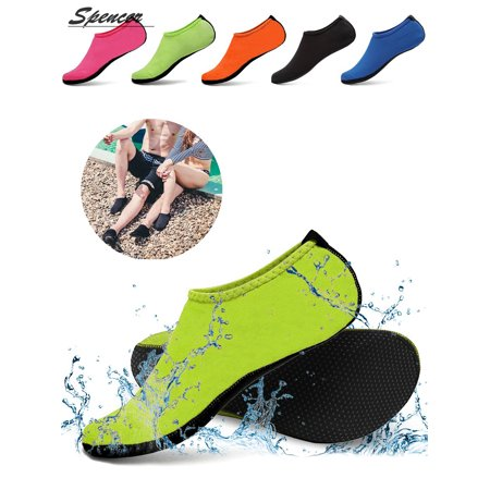 Spencer Men Women Barefoot Water Skin Shoes Aqua Socks for Beach Swim Surf Yoga Exercise - Ladies Shoes 1920s