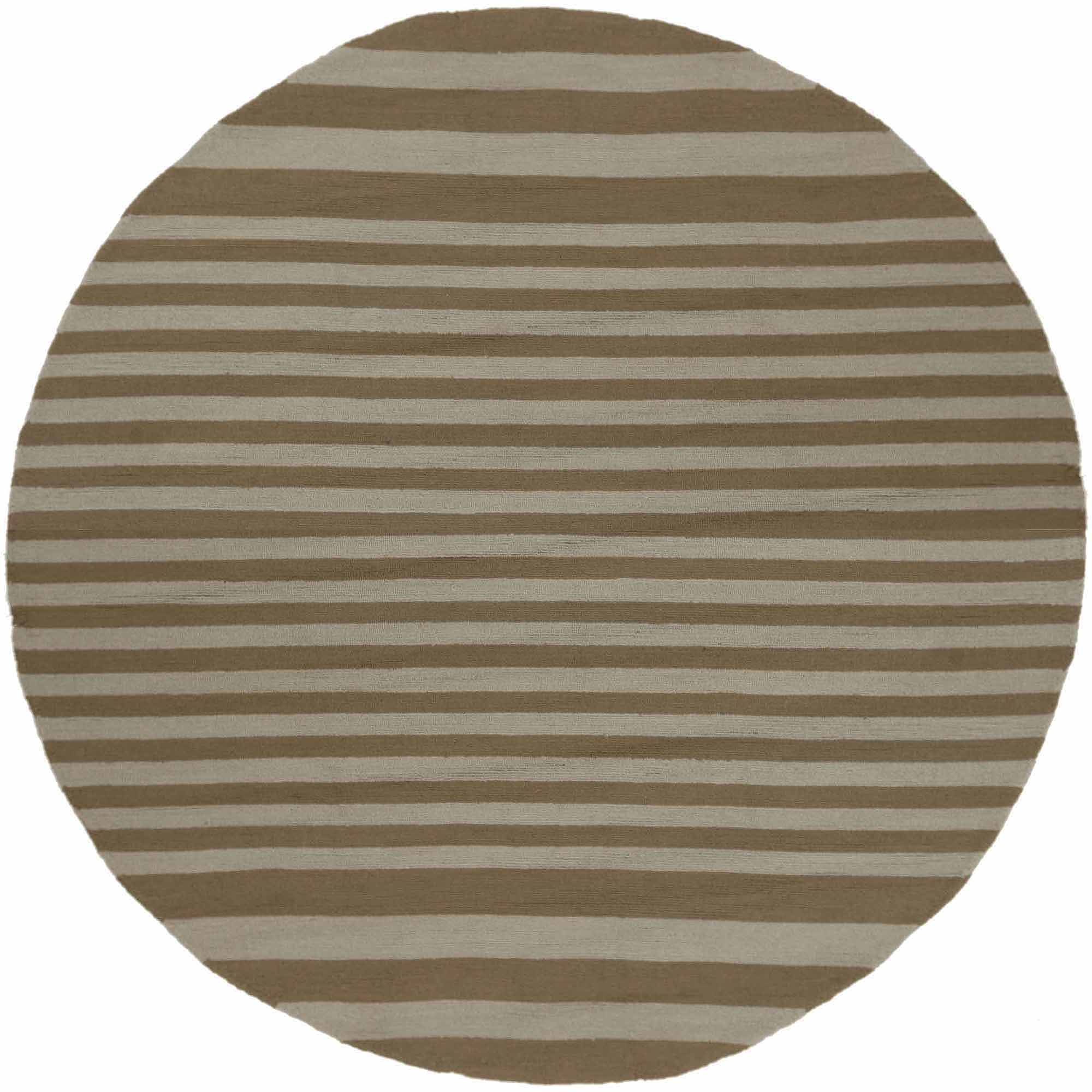 Art of Knot Yunkai Hand Hooked Cape Cod Sailing Stripe Indoor/Outdoor Area Rug, Moss