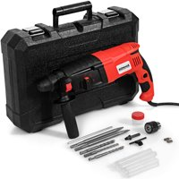 1/2'' Electric Rotary Hammer Drill 3 Mode SDS-Plus Chisel Kit 1100W