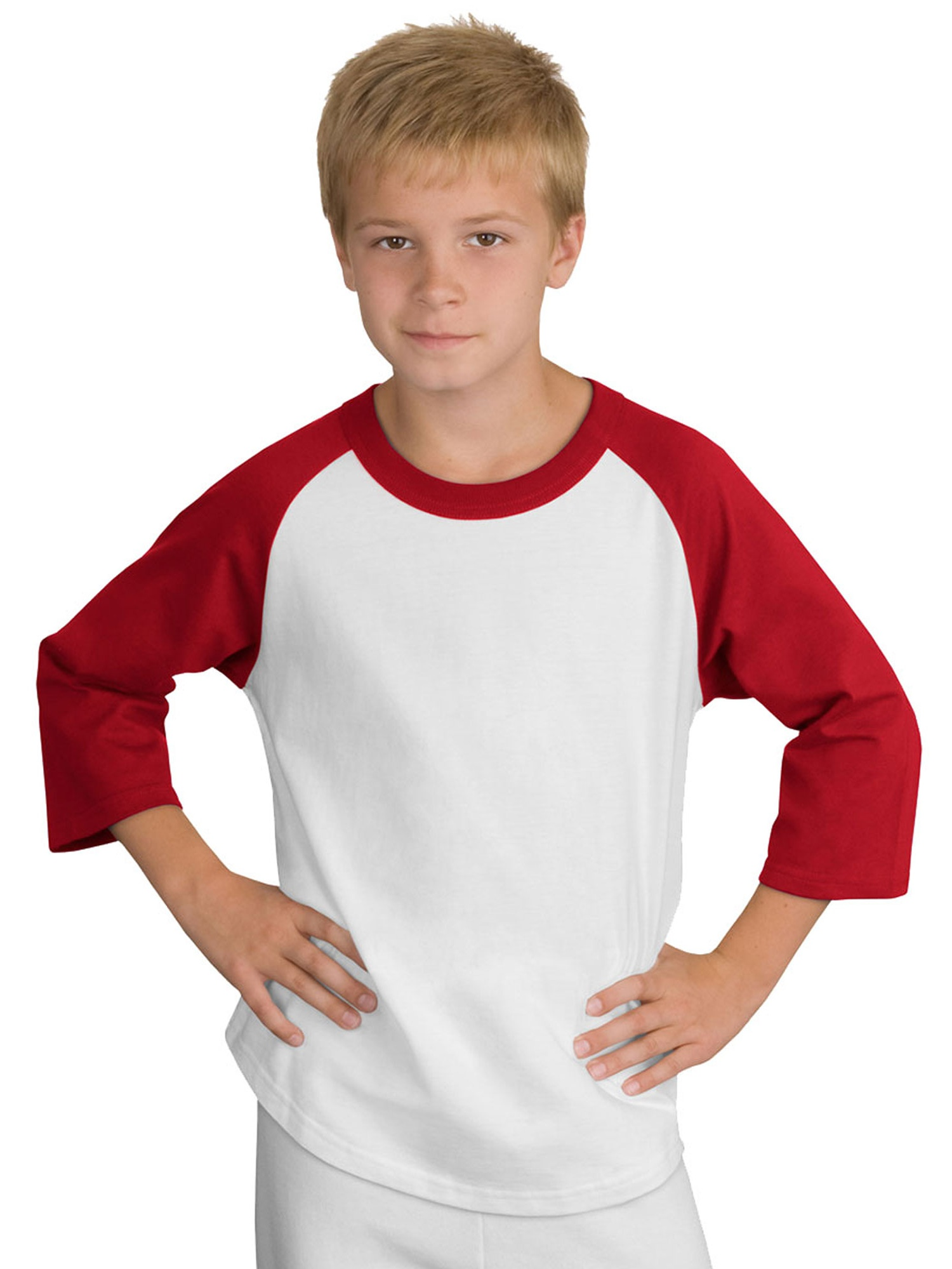 Sport-Tek Youth 3/4 Raglan Sleeves Colorblock Jersey