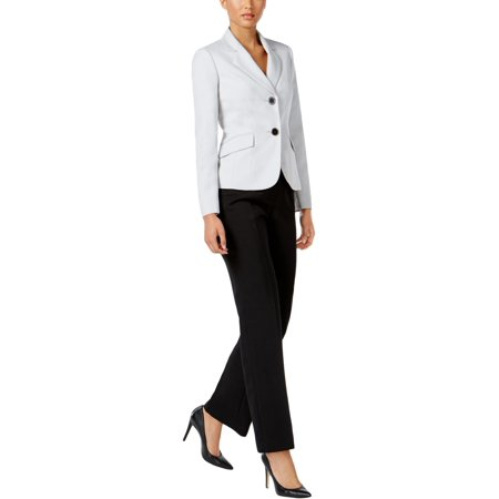 Le Suit Womens 2 PC Melange Pant Suit
